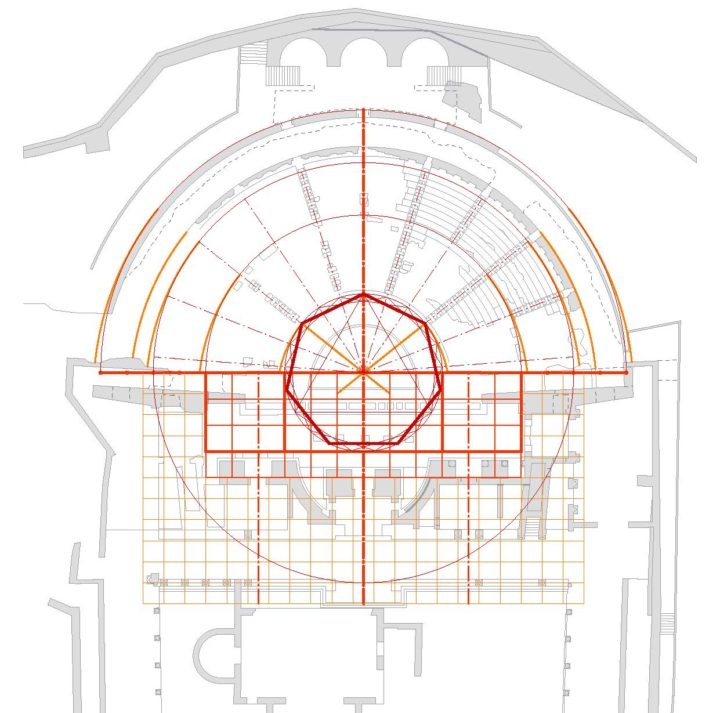The analysis of the geometric framework of the Roman theater in Volterra